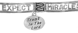 Expect Miracles, The Original, Safe - Nickel & Lead Free, Adjustable Stretch Bracelet