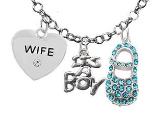 "Baby Shower Gifts, Wife, ""It's A Boy"", Necklace, Hypoallergenic, Safe - Nickel & Lead Free"
