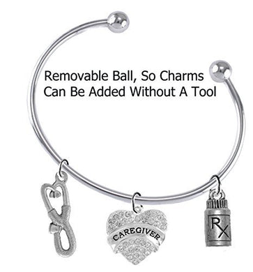 Caregiver, Nurse Add a Charm Bracelet, Hypoallergenic, Safe - Nickel & Lead Free
