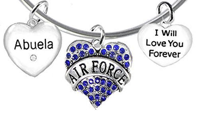 Air Force Abuela, I Will Love You Forever, Safe - Nickel & Lead Free