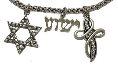 Yeshua Messianic Christian Necklace, Safe - Nickel & Lead Free, Adjustable Necklace