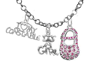 "Constable's Wife's, ""It's A Girl"", Necklace, Hypoallergenic, Safe - Nickel & Lead Free"