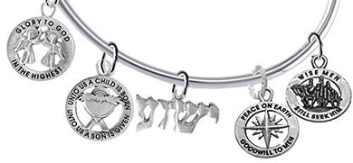 YESHUA, (Jesus In Hebrew) Named by an Angel of God. Christmas Bracelet - Safe, Nickel & Lead Free