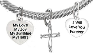 "My Love, My Joy, My Sunshine, My Heart, and ""I Will Love You Forever"" & Contemporary Cross Bracelet"