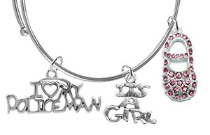 It's A Girl, Bracelet, Policeman's Wife's - Safe - Nickel & Lead Free