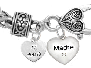 Te Amo,Madre,I Love You Mother,Hypoallergenic-NoNickel,Lead 463-1891B1