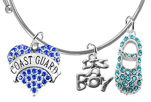 "Coast Guard's Wife's Baby Shower Gifts, ""It's A Boy"", Adjustable Bracelet, Safe - Nickel & Lead Free"