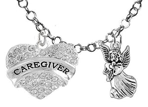 "Caregiver, RN, Nurse, ""You Are an Angel"", Adjustable Charm Necklace, Safe - Nickel & Lead Free"
