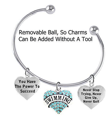 You Have the Power to Succeed 3 Charm Adjustable Bracelet, Safe - Nickel & Lead Free