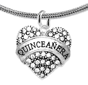 The Perfect Gift Quinceanera Hypoallergenic Adjustable Necklace, Safe - Nickel, Lead & Cadmium Free!