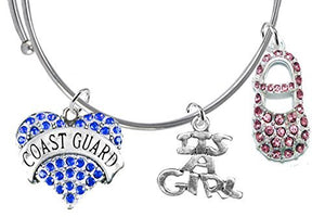 "Coast Guard's Wife's, ""It's A Girl"", Bracelet, Hypoallergenic, Safe - Nickel & Lead Free"