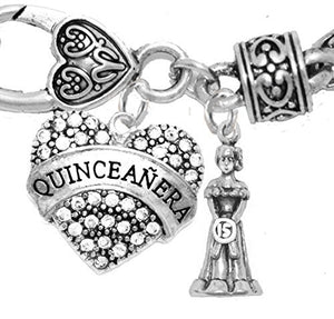The Perfect Gift Quinceanera Hypoallergenic Bracelet, Safe - Nickel, Lead & Cadmium Free!