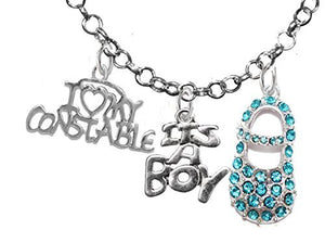 "Constable's Wife's, ""It's A Boy"", Necklace, Hypoallergenic, Safe - Nickel & Lead Free"