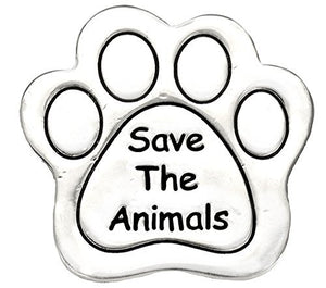 Save The Animals Pin, Real Jewelry, Not Plastic or Paper Safe, Nickel, Lead & Cadmium Free