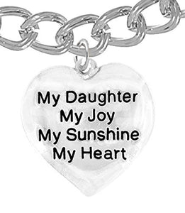 "Message Jewelry, My ""Daughter"", My Joy, My Sunshine, My Heart, Bracelet - Safe, Nickel & Lead Free"
