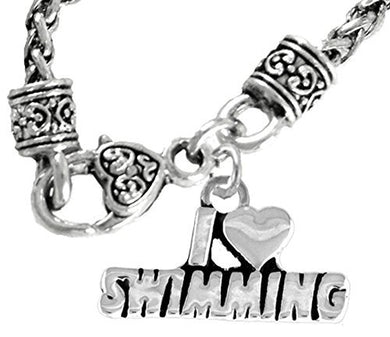 I Love Swimming, Necklace, Hypoallergenic, Safe - Nickel & Lead Free