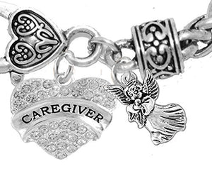 "Caregiver, Nurse, RN, LPN, ""You Are an Angel"", Bracelet, Hypoallergenic, Safe - Nickel & Lead Free"