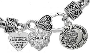 "Mother's Day ""Mom"", Grandma Jewelry ""Abuela"" Bracelet, Safe - Nickel & Lead Free"