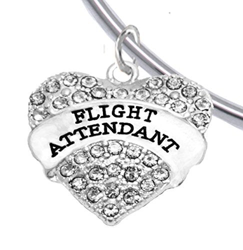 Flight Attendant, Hypoallergenic Adjustable Charm Bracelet, Removable Ball, Nickel & Lead Free