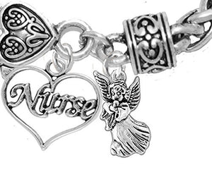 "Nurse, RN, LPN, ""You Are an Angel"", Bracelet, Hypoallergenic, Safe - Nickel & Lead Free"