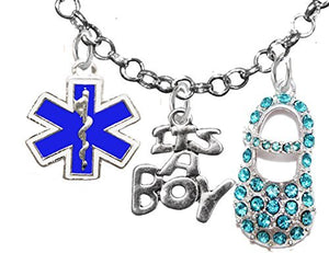 "EMT, ""It's A Boy"", Necklace, Hypoallergenic, Safe - Nickel & Lead Free"