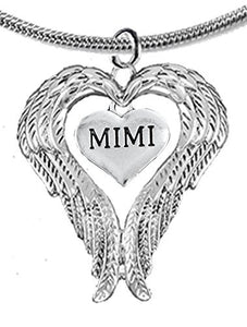 Guardian Angel, Heart (Love) Shaped Wings for Mimi Necklace, Adjustable - Safe, Nickel & Lead Free