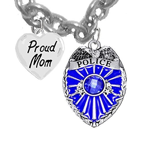 "policeman's, proud ""mom"", hypoallergenic, safe - nickel & lead free."