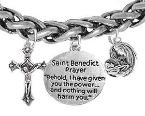 Saint Benedict Charm - Prayer - Crucifix - Mary With Christ Child, Protect Me from Harm, From Evil