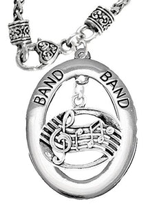 "Band ""Music Notes"" Hypoallergenic Adjustable Necklace, Safe - Nickel & Lead Free"