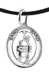 "Band ""Trumpet Player"" Hypoallergenic Adjustable Necklace, Safe - Nickel & Lead Free"