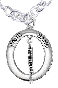 "Band ""Flute Player"" Hypoallergenic Adjustable Necklace, Safe - Nickel & Lead Free"