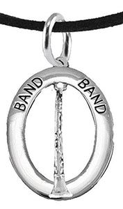 "Band ""Clarinet Player"" Hypoallergenic Adjustable Necklace, Safe - Nickel & Lead Free"