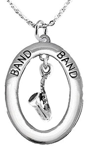 "Band ""Saxophone Player"", Hypoallergenic Adjustable Necklace, Safe - Nickel, Lead & Cadmium Free"