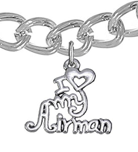 Air Force, I Love My Airman, Bracelet Hypoallergenic, Safe - Nickel & Lead Free