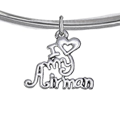 Air Force, I Love My Airman, Adjustable Bracelet Hypoallergenic, Safe - Nickel & Lead Free