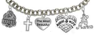 Most Beautiful Marine Wife Bracelet, Will NOT Irritate Sensitive Skin. Safe - Nickel & Lead Free