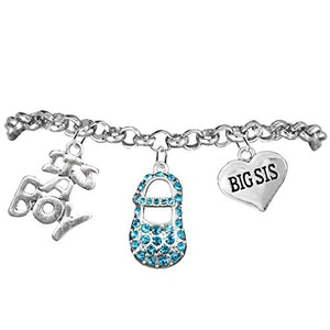 "Big Sis, ""It's A Boy"", Adjustable Bracelet, Hypoallergenic, Safe - Nickel & Lead Free"
