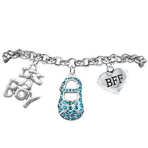 "Best Friend Forever, ""It's A Boy"", Adjustable Bracelet, Hypoallergenic, Safe - Nickel & Lead Free"