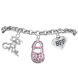"Best Friend Forever, ""It's A Girl"", Adjustable Bracelet, Safe - Nickel & Lead Free."