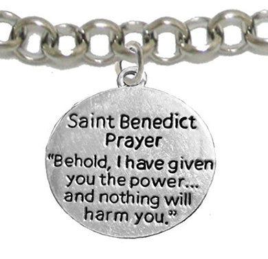 Saint Benedict Bracelet Protect Me from Harm Prayer, From Evil, From the Devil. Nickel & Lead Free