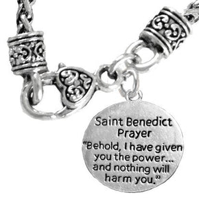 Saint Benedict Necklace, Protective Charm & Prayer, Protect Me from Harm, From Evil, From the Devil