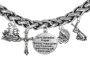 Saint Benedict Prayer-Crucifix-Mary With Christ Child, Calvary, Protect Me from Harm, From Evil.