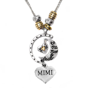 "Mimi ""I Love You to The Moon & Back"", Adjustable, Will NOT Irritate Sensitive Skin, Safe"