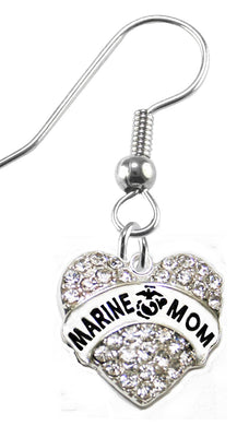 The Perfect Gift Marine Mom Hypoallergenic Fishhook Earring, Safe - Nickel & Lead Free