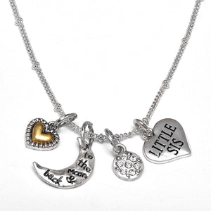 "Mimi ""I Love You to The Moon & Back"", Adjustable Necklace Set, WON'T Irritate Sensitive Skin. Safe"