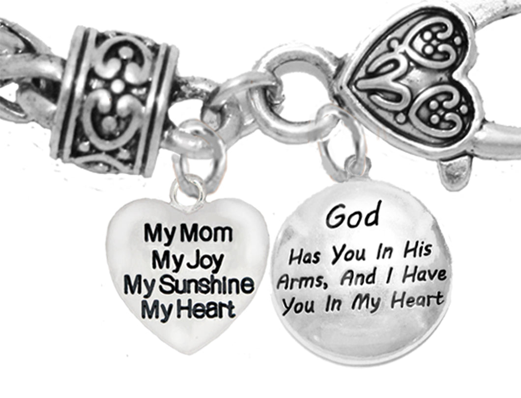 My Mom, My Joy, My Sunshine,God Has You In His Arms, Hypoallergenic,No Nickel,Lead 1893-1677B1