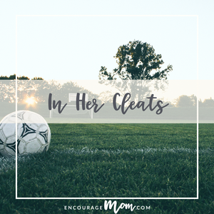 In Her Cleats My Soccer Story Ginger Myers encourage mom https://encouragemom.com