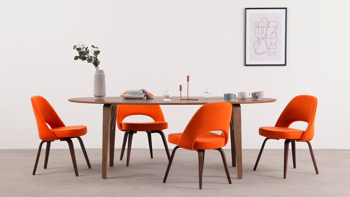 Executive - Executive Armless Dining Chair, Orange and ...