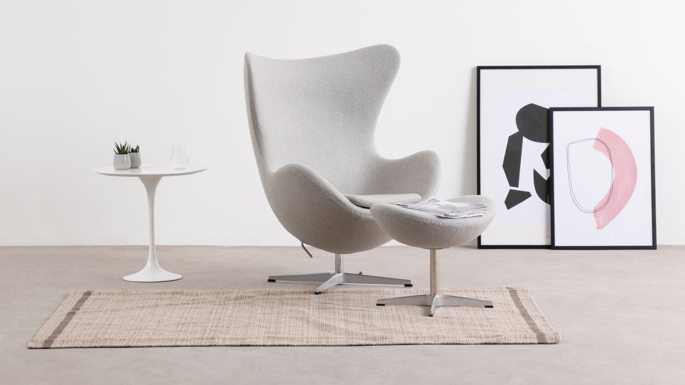 Make a stylish statement|The Egg Chair has the ability to effortlessly elevate any space it graces. Add it to a living area or den for a touch of luxury and comfort.
