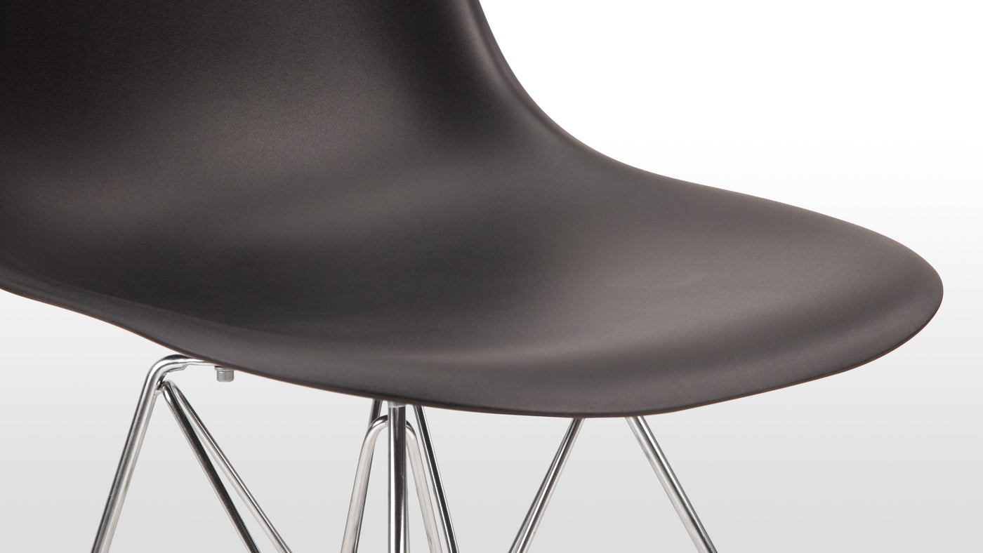 Ergonomically designed|It's often the most minimalistic designs that are infused with the most comfort. This contemporary chair is ergonomically crafted, making for a comfortable seating experience in a home or business setting.